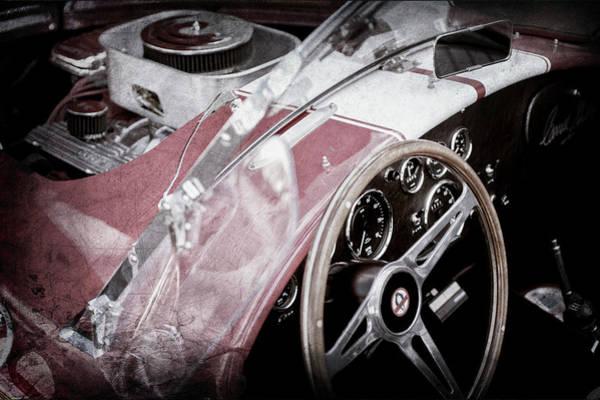 Ac Cobra Wall Art - Photograph - 1955 Ac Cobra Steering Wheel - Engine -1043ac by Jill Reger