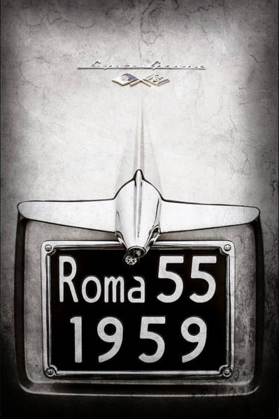 Wall Art - Photograph - 1955 Alfa Romeo 1900 Css Ghia Aigle Cabriolet Grille Emblem - Super Sprint Emblem -0601ac by Jill Reger