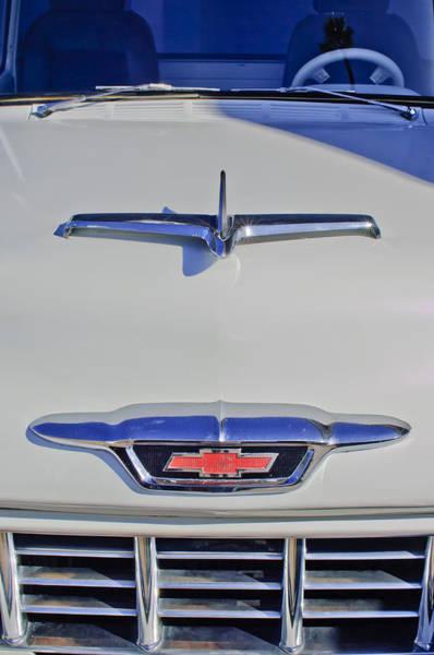 Photograph - 1955 Chevrolet 3100 Hood Ornament by Jill Reger