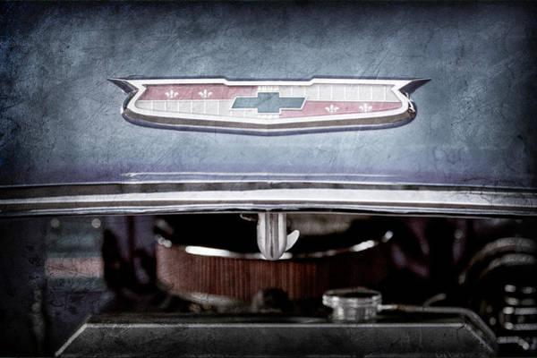 Wall Art - Photograph - 1955 Chevrolet Belair Emblem -1033ac by Jill Reger