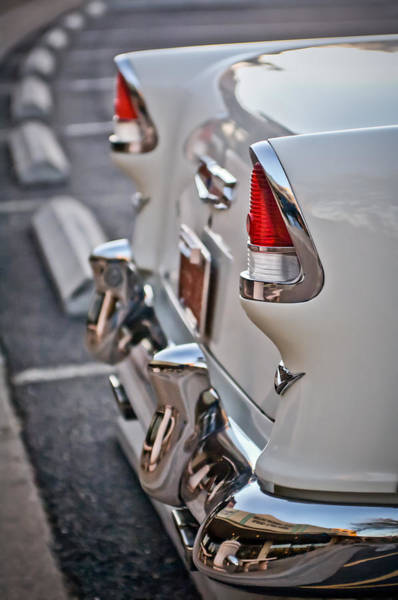 Wall Art - Photograph - 1955 Chevrolet Belair Tail Lights by Jill Reger