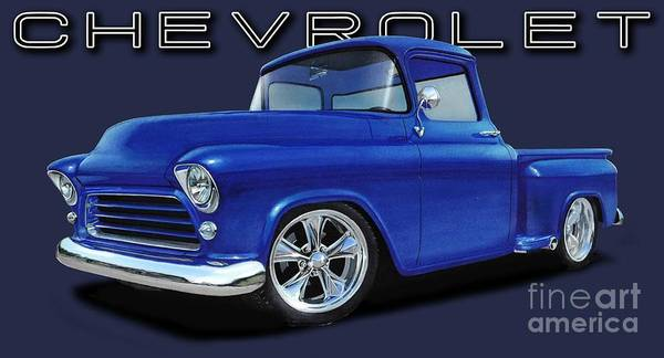 1955 Chevy Digital Art - 1955 Chevrolet Stepside by Paul Kuras