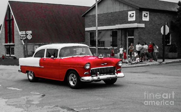 1955 Chevy Digital Art - 1955 Chevy by Patricia Panopoulos