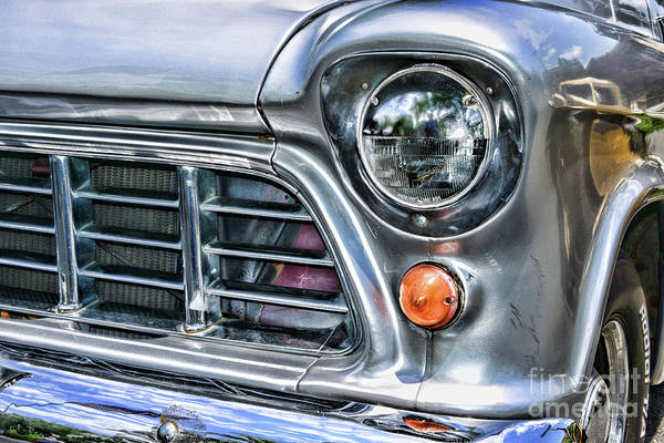 Wall Art - Photograph - 1955 Chevy Pick Up Truck Front Quarter Panel by Paul Ward