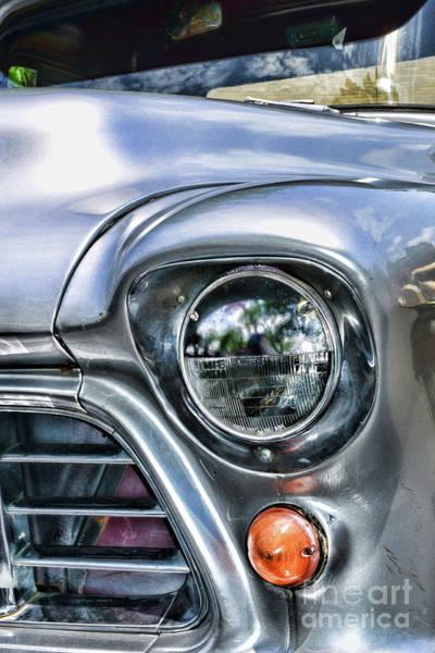 Wall Art - Photograph - 1955 Chevy Pick Up Truck Headlight by Paul Ward