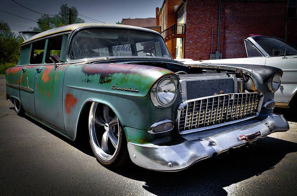 Photograph - 1955 Chevy Wagon by David Patterson