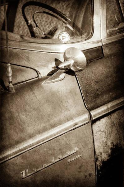 Wall Art - Photograph - 1955 Chrysler Emblem -0353s by Jill Reger