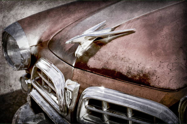 Wall Art - Photograph - 1955 Chrysler Hood Ornament - Grille -0355ac by Jill Reger