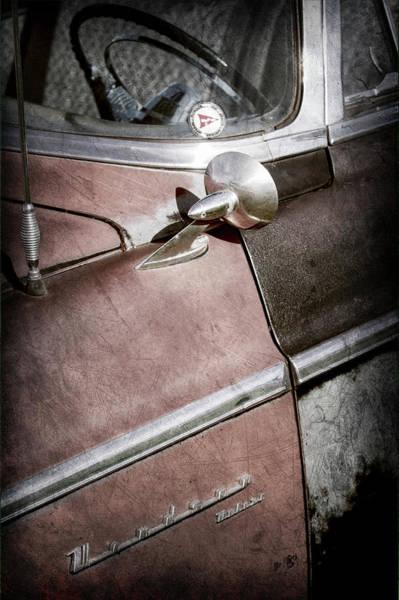 Wall Art - Photograph - 1955 Chrysler Steering Wheel -0353ac by Jill Reger