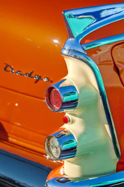 Wall Art - Photograph - 1955 Dodge Coronet Tail Light Emblem -0086c by Jill Reger