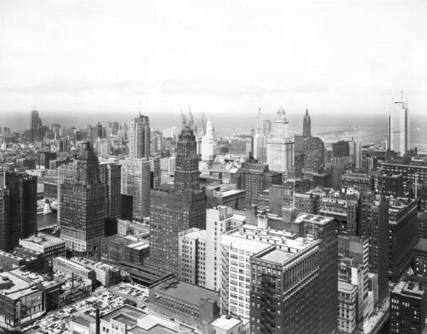 Skyline Drive Photograph - 1955 Downtown Chicago by Underwood Archives