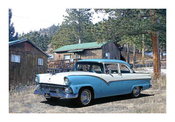 Wall Art - Photograph - 1955 Ford Custom Fairlane by Jack Pumphrey