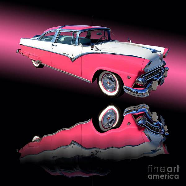 Car Show Photograph - 1955 Ford Fairlane Crown Victoria by Jim Carrell