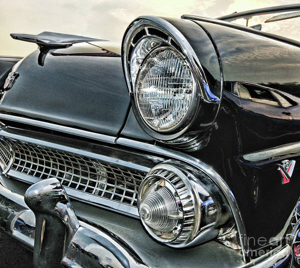 Wall Art - Photograph - 1955 Ford Fairlane Front End by Paul Ward