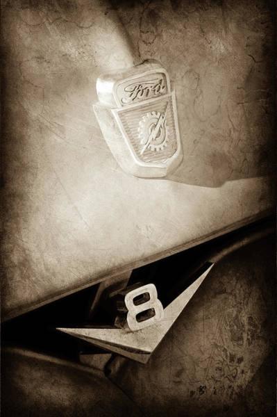 Wall Art - Photograph - 1955 Ford Pickup Truck Emblems -1020s by Jill Reger