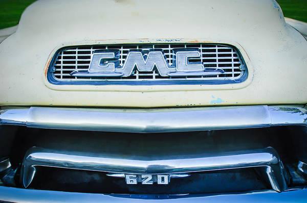 Photograph - 1955 Gmc Pickup Truck Grille Emblem -0314c1 by Jill Reger