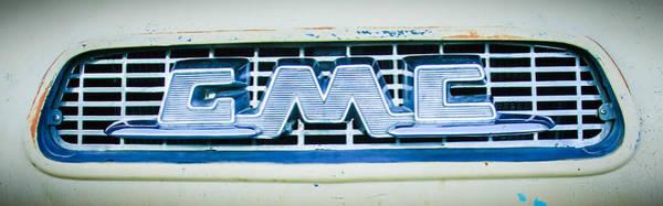 Photograph - 1955 Gmc Pickup Truck Grille Emblem -0314c2 by Jill Reger