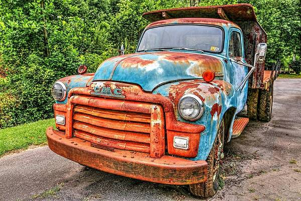 Wall Art - Photograph - 1955 Gmc Truck by Carol Montoya