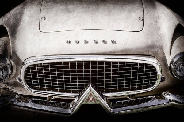 Photograph - 1955 Hudson Italia Grille Emblem -0214ac by Jill Reger