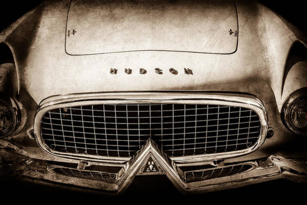 Photograph - 1955 Hudson Italia Grille Emblem -0214s by Jill Reger