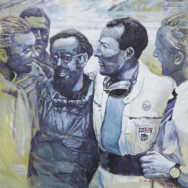 Wall Art - Painting - 1955 Mercedes Benz 300 Slr Moss Jenkinson Winner Mille Miglia 02-02 by Yuriy Shevchuk