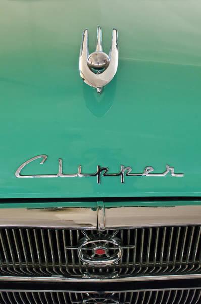 Photograph - 1955 Packard Clipper Hood Ornament by Jill Reger