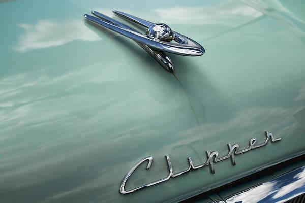 Photograph - 1955 Packard Panama Hardtop Hood Ornament by Kristia Adams
