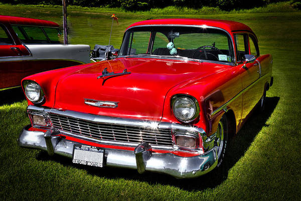 Photograph - 1955 Red Chevy Bel Air by David Patterson