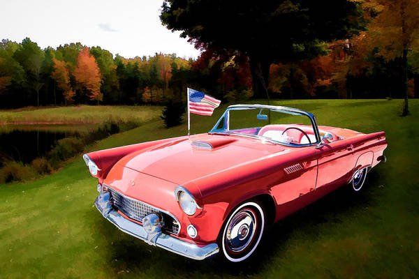 Painting - 1955 Thunderbird Painting Fine Art Prints 1275.02 by M K Miller