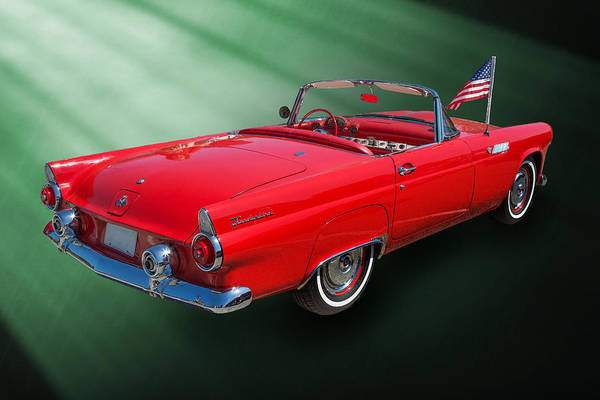Photograph - 1955 Thunderbird Photograph Fine Art Prints 1248.02 by M K Miller