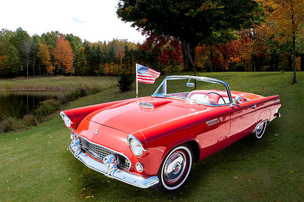 Photograph - 1955 Thunderbird Photograph Fine Art Prints 1249.02 by M K Miller