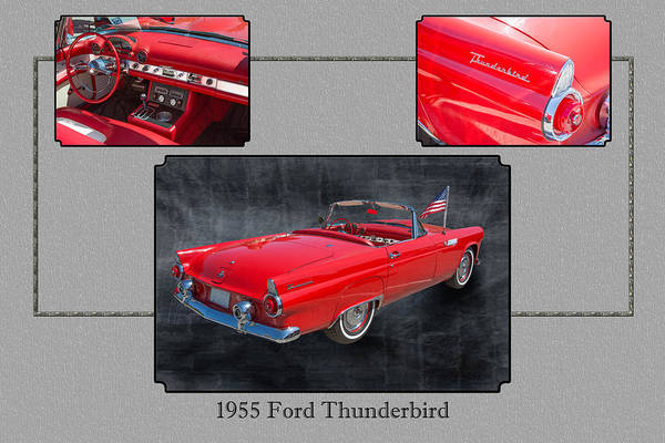 Photograph - 1955 Thunderbird Photograph Fine Art Prints 1251.02 by M K Miller