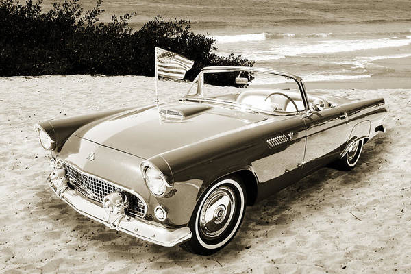 Photograph - 1955 Thunderbird Photograph Fine Art Prints 1261.01 by M K Miller