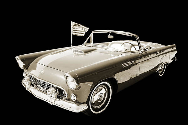Photograph - 1955 Thunderbird Photograph Fine Art Prints 1265.01 by M K Miller