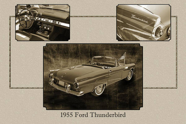 Photograph - 1955 Thunderbird Photograph Fine Art Prints 1266.01 by M K Miller