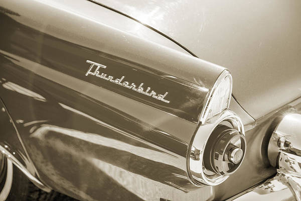 Photograph - 1955 Thunderbird Photograph Fine Art Prints 1272.01 by M K Miller