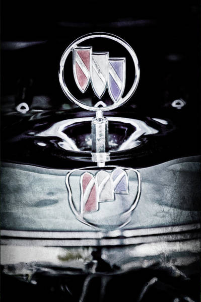 Wall Art - Photograph - 1956 Buick Special Hood Ornament -834ac by Jill Reger