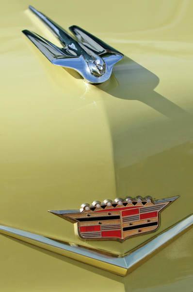 Hoodie Photograph - 1956 Cadillac Sedan Deville Hood Ornament by Jill Reger