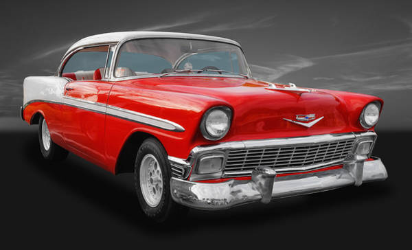 Street Rods Photograph - 1956 Chevrolet Bel Air Sport Coupe by Frank J Benz