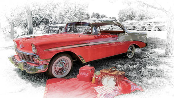 Photograph - 1956 Chevrolet Bel Air by Susan Rissi Tregoning