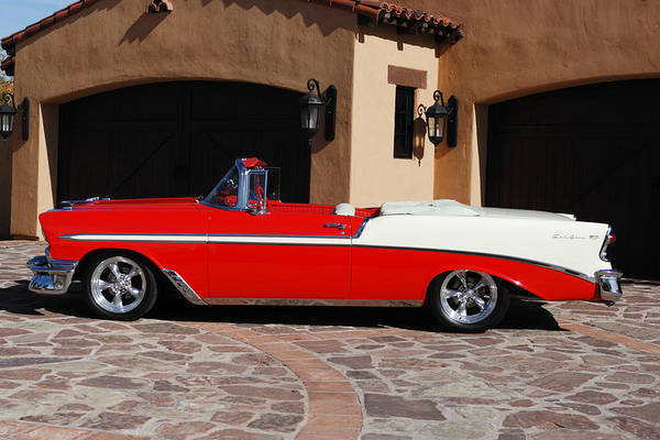 Photograph - 1956 Chevrolet Belair Convertible by Jill Reger