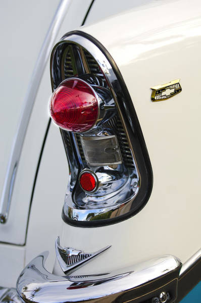Wall Art - Photograph - 1956 Chevrolet Belair Nomad Taillight Emblem by Jill Reger