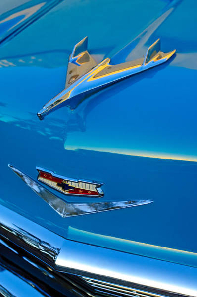 Hoodies Photograph - 1956 Chevrolet Hood Ornament 4 by Jill Reger