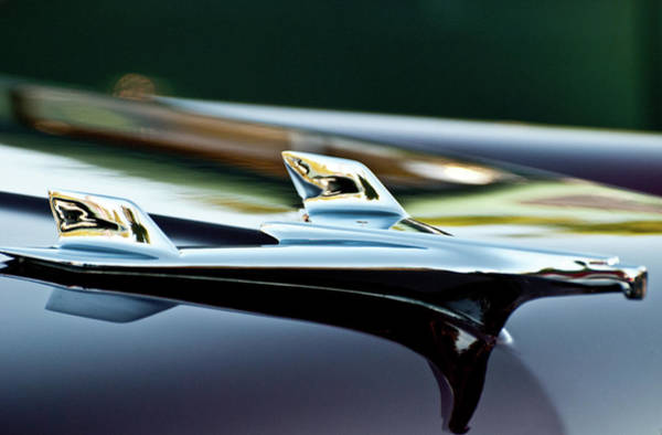 Photograph - 1956 Chevy Belair Hood Ornament Flying 1 by Jani Freimann