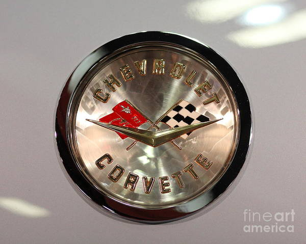 Photograph - 1956 Chevy Corvette Badge by Wingsdomain Art and Photography