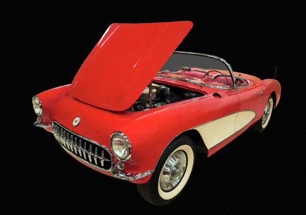 Painting - 1956 Chevy Corvette Digital Oil by Chris Flees