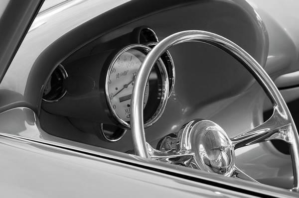 Photograph - 1956 Chrysler Hot Rod Steering Wheel by Jill Reger