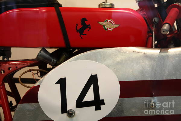 Photograph - 1956 Ducati Meccanica 125cc Gran Sport Marianna . 5d16979 by Wingsdomain Art and Photography