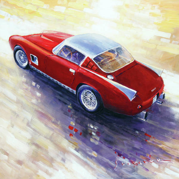 Wall Art - Painting - 1956 Ferrari 410 Superamerica Scaglietti Series by Yuriy Shevchuk