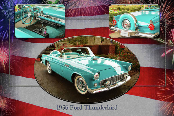 Photograph - 1956 Ford Thunderbird 5510.02 by M K Miller